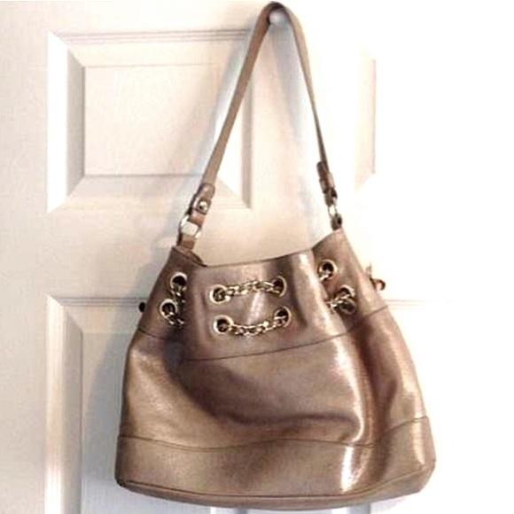 Elaine Turner Handbags - Elaine Turner Gold Alexis Leather Handbag